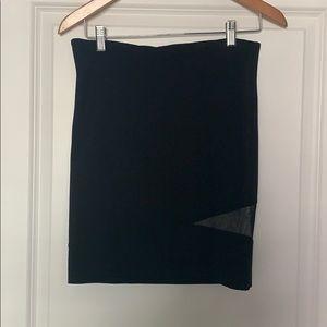 BB Dakota black mini skirt with mesh inlay